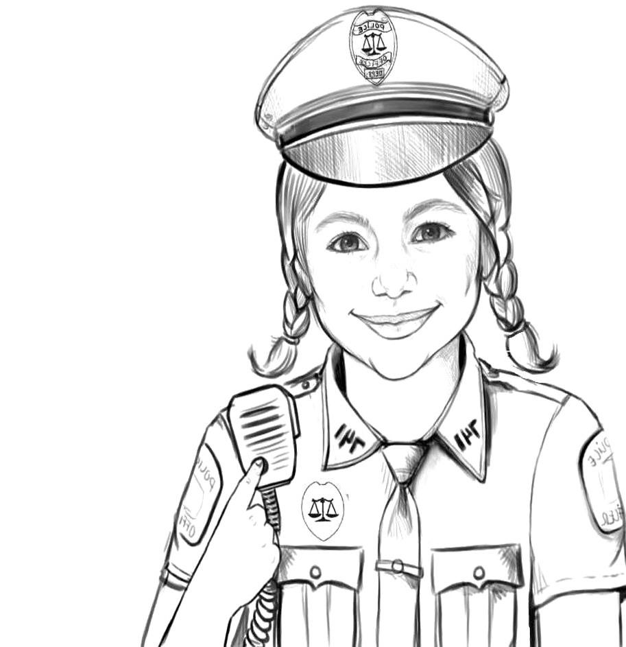 9 Mewarnai Gambar Polisi