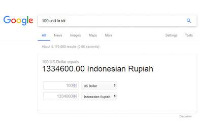 mudah melakukan perubahan mata uang di mesin pencarian