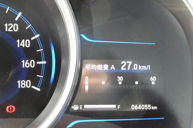 honda-fit-hybrid-meter2 ホンダフィットハイブリッド
