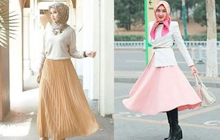model rok dan atasan muslimah