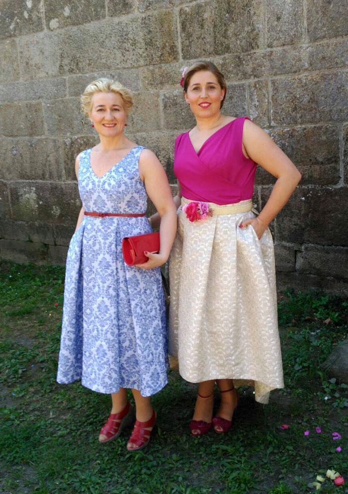 invitada perfecta vestido falda midi elegante vintage