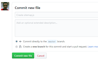 Commit new file - Github