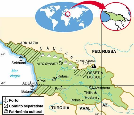 Geórgia, Aspectos Geográficos e Socioeconômicos da Geórgia