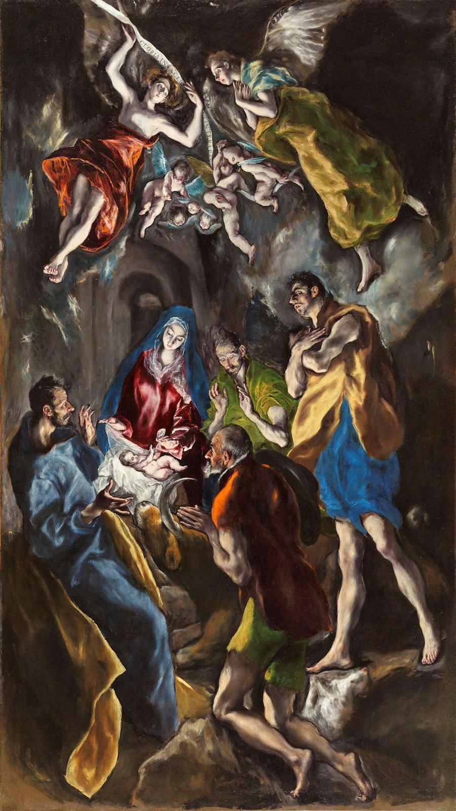 """La Adoración de los Pastores - Doménikos Theotokópoulos """"El Greco"""" - Museo del Prado MADRID"""