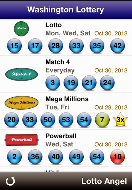 USA Washington Lottery Results (Oct 30, 2013)