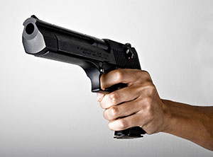 Shows plastic pistol and abduct girl over love case!
