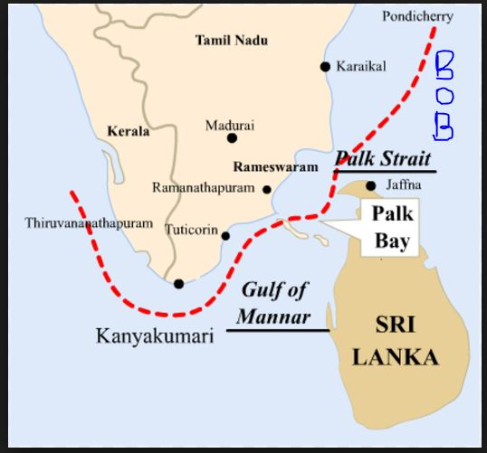 The exams made simple most important straits for upsc prelims 3 palk strait between palk bay and bay of bengal gumiabroncs Gallery