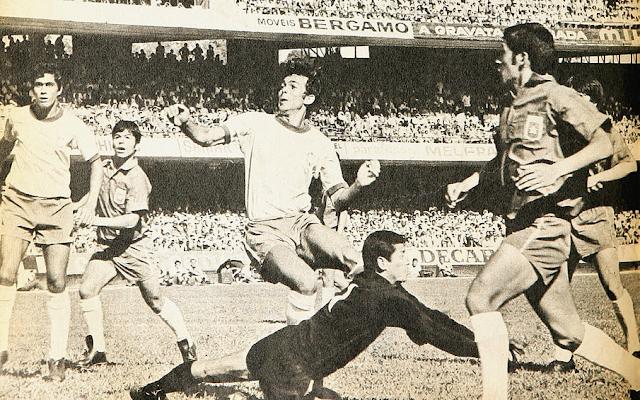 Brasil y Chile en partido amistoso, 22 de marzo de 1970