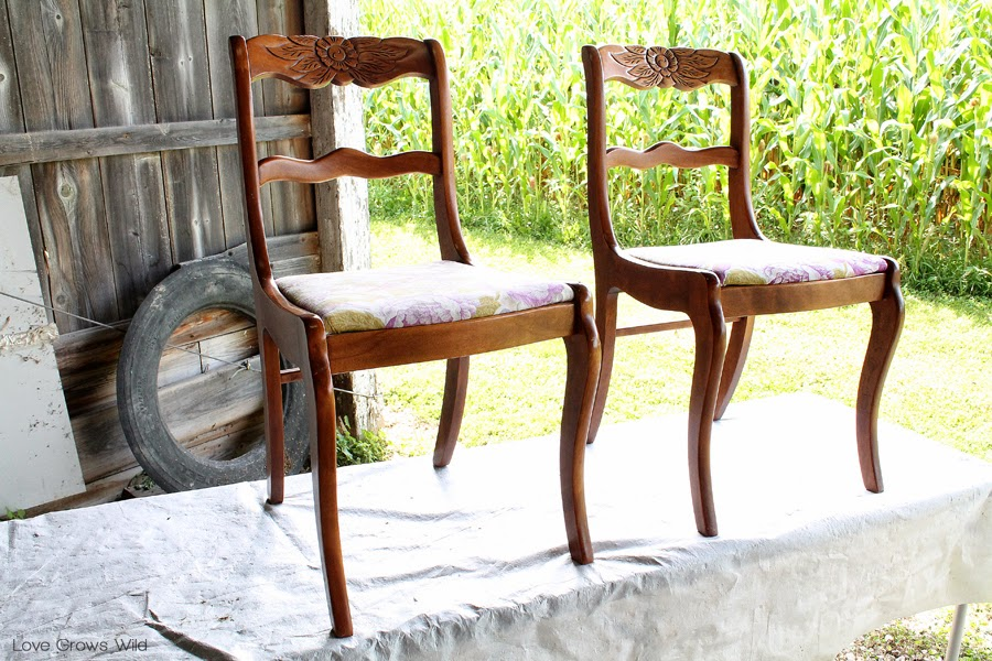 EVERYTHING you need to know about Stripping Painting and Recovering your dining chairs! & Dining Chair Makeover - How to Strip Paint and Recover Chairs ...
