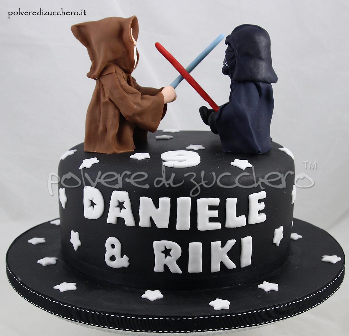Torta Compleanno Star Wars Darth Vader E Obi Wan Kenobi