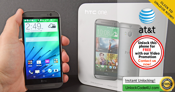 Factory Unlock Code HTC One M8 from At&t