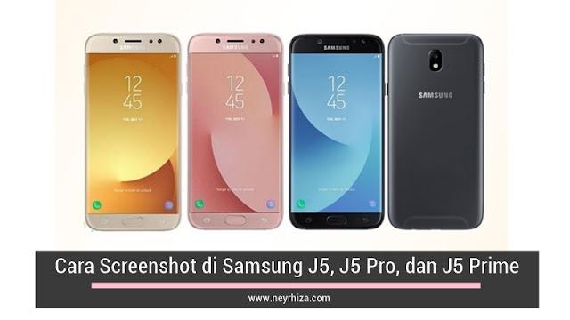 Cara Screenshot di Samsung J5