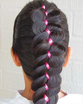 peinados para niñas con trenzas y cintas