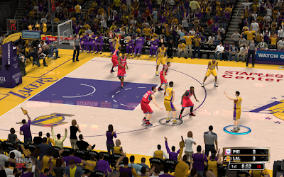 NBA 2K13 Los Angeles Lakers Court Fix Patch