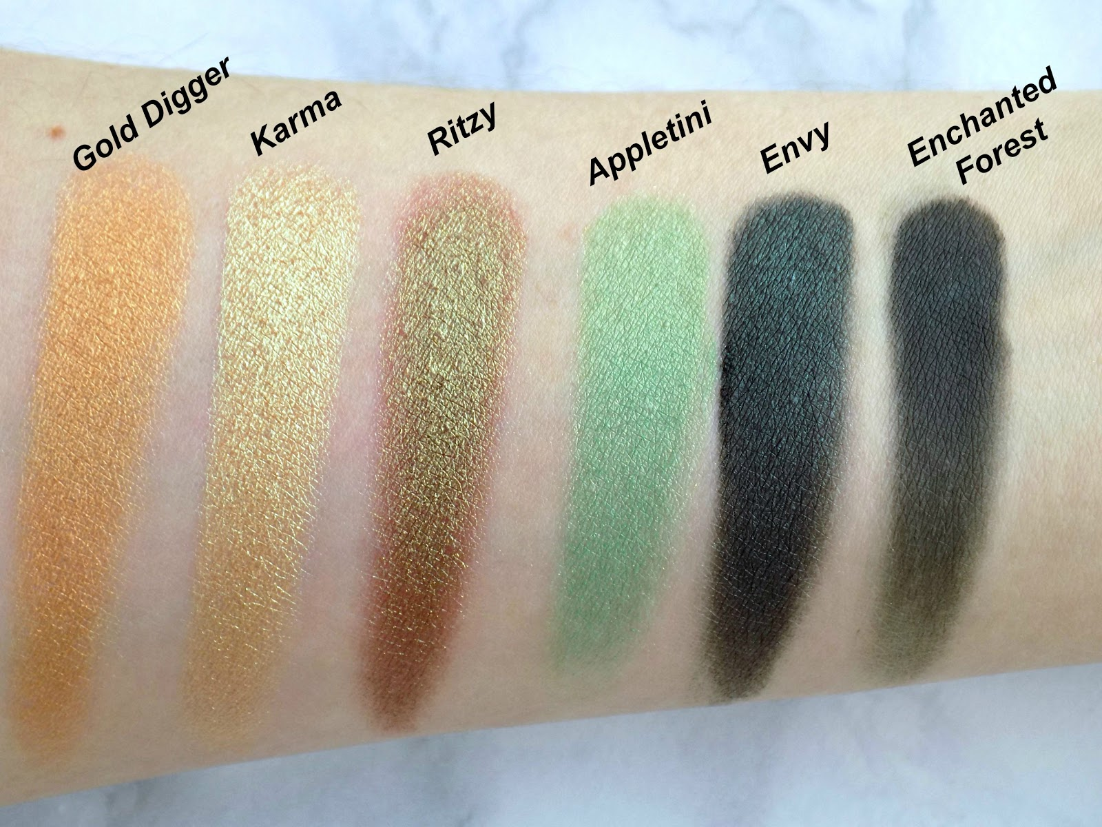 Makeup Geek eyeshadows, my collection, swatches