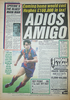 Back page of the Sunday Sport newspaper from 7th June 1987