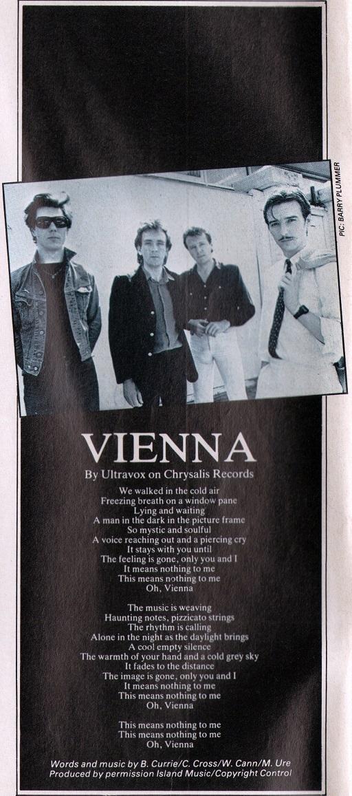 Vienna Single - Ultravox