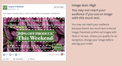 Một hình ảnh ảnh không nên quá 20% text