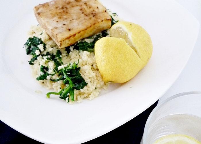 Dorschfilet mit Zitronen-Couscous nach Donna Hay