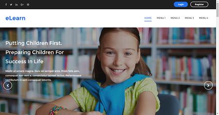 Blogger template: eLearn   Templates Block