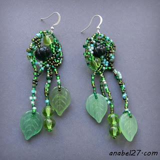 бисер фриформ серьги бисероплетение freeform earrings beadwork peyote