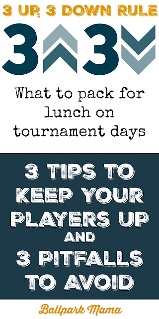 Lunch ideas for baseball, softball and soccer tournaments
