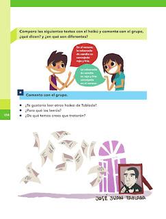 Apoyo Primaria Español 1er grado Bimestre 4 lección 13 Poemas cortos
