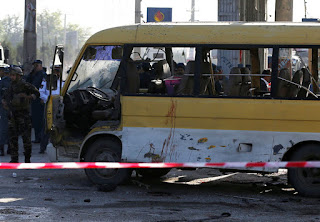 attack on mini bus Kabul