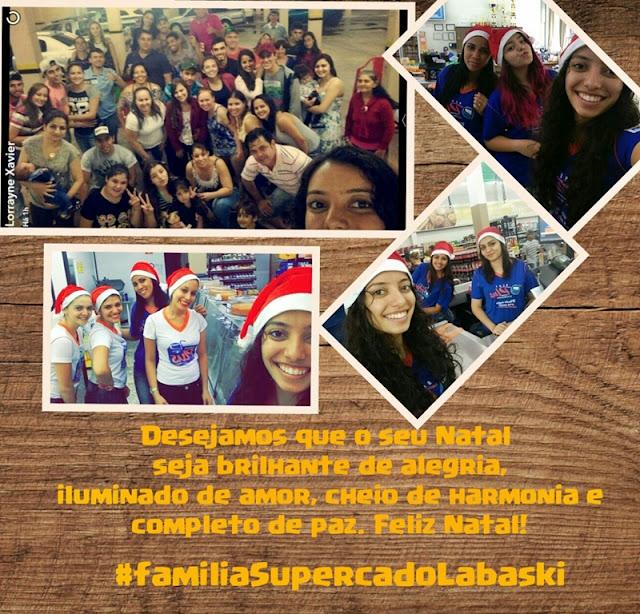 Mensagem de Natal do Supermercado Labaski, de Iretama: