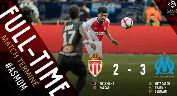 Hasil AS Monaco vs Marseille Skor Akhir 2-3 [ Ligue 1 2018]