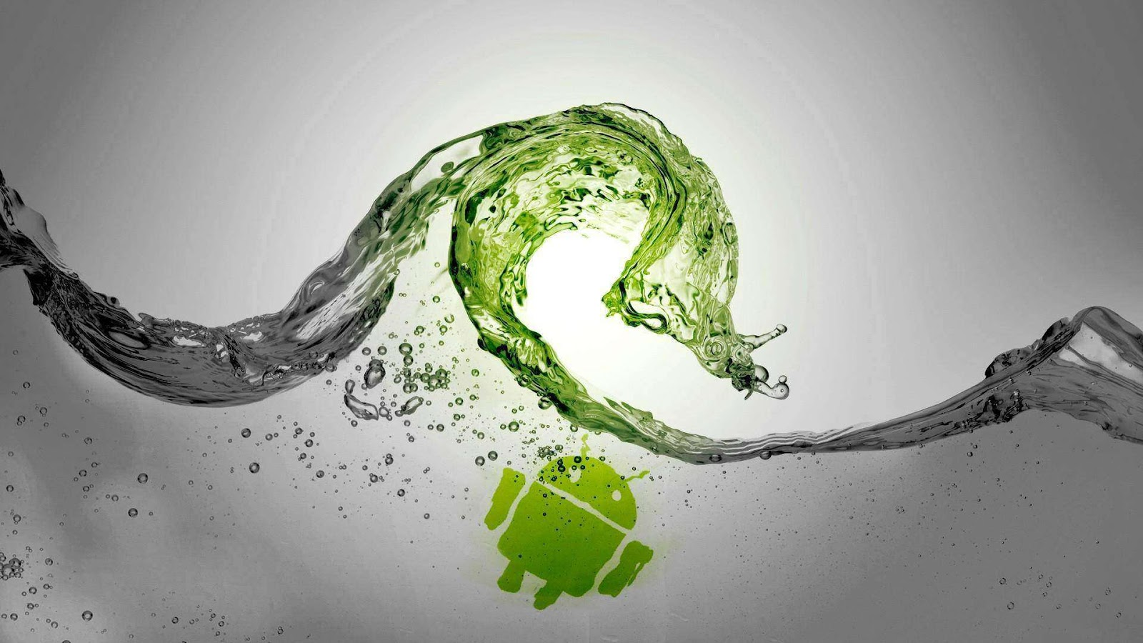 Android Logo and Water Clean Design