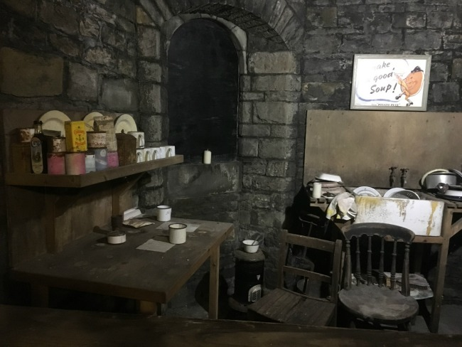a-toddler-explores-cardiff-castle-world-war-two-shelters-canteen