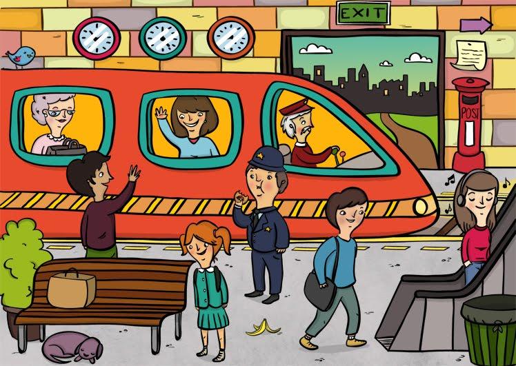 train platform clipart - photo #9