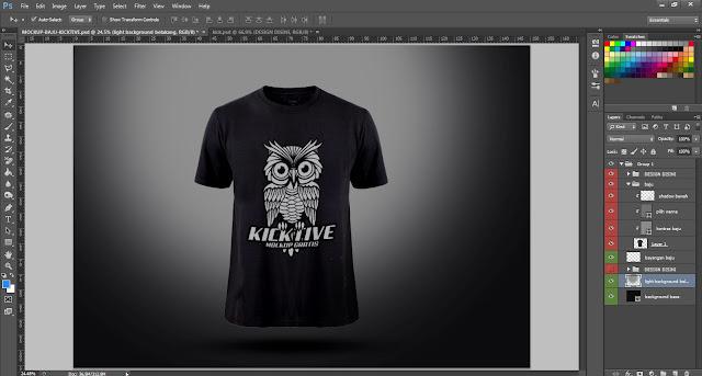 Photoshop Kicktive .PSD gratis download Mockup