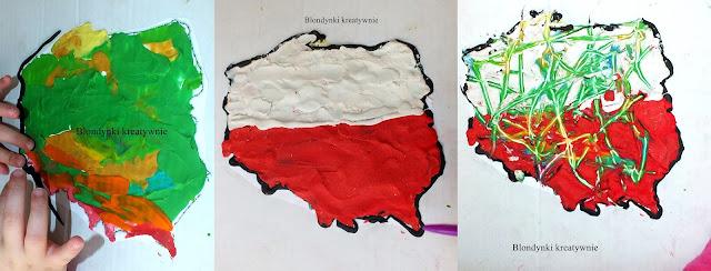 Makieta Polski z plasteliny