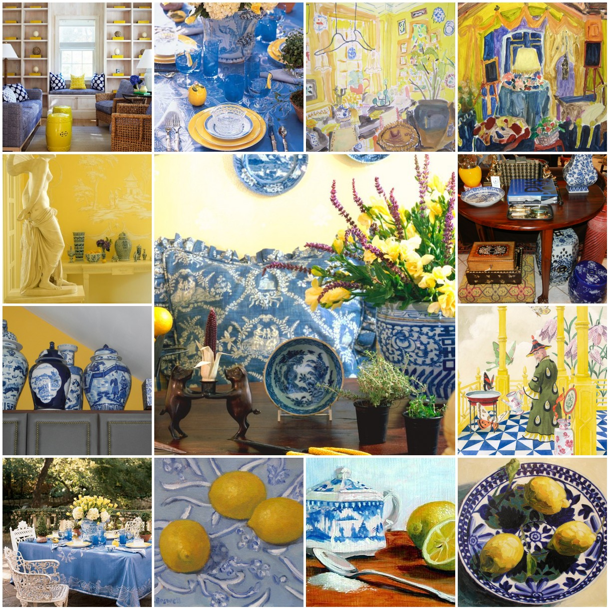 Yellow Accents Home Decor The French Tangerine Blue And Yellow