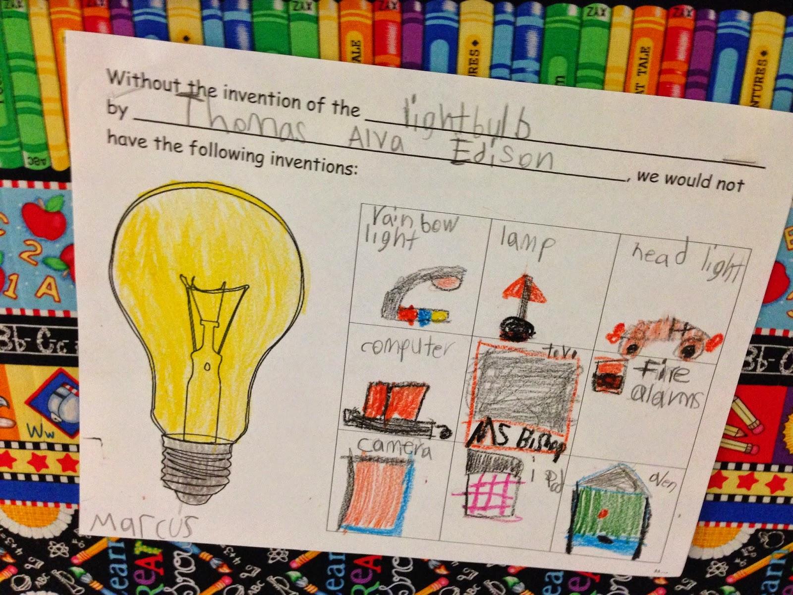 Bishop S Blackboard An Elementary Education Blog Thomas Edison