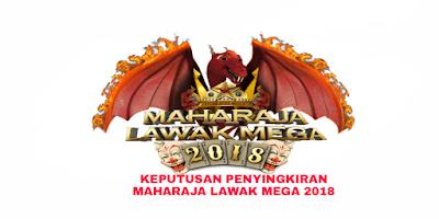 Keputusan Penyingkiran Maharaja Lawak Mega 2018