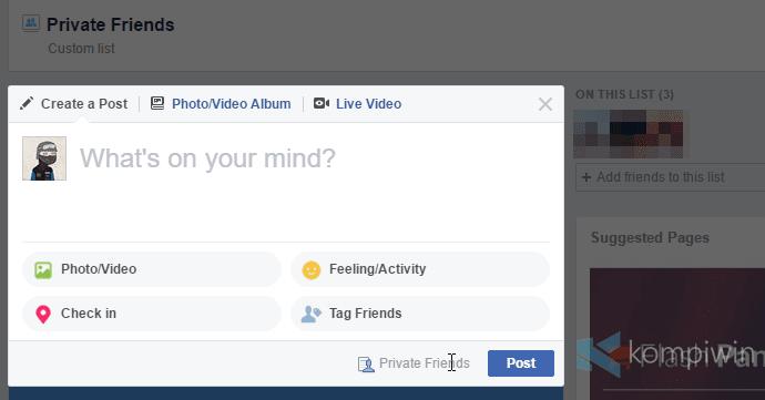 status facebook dibaca orang-orang tertentu