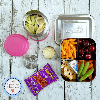 Lunch box fun with tortellini! #lunchboxideas