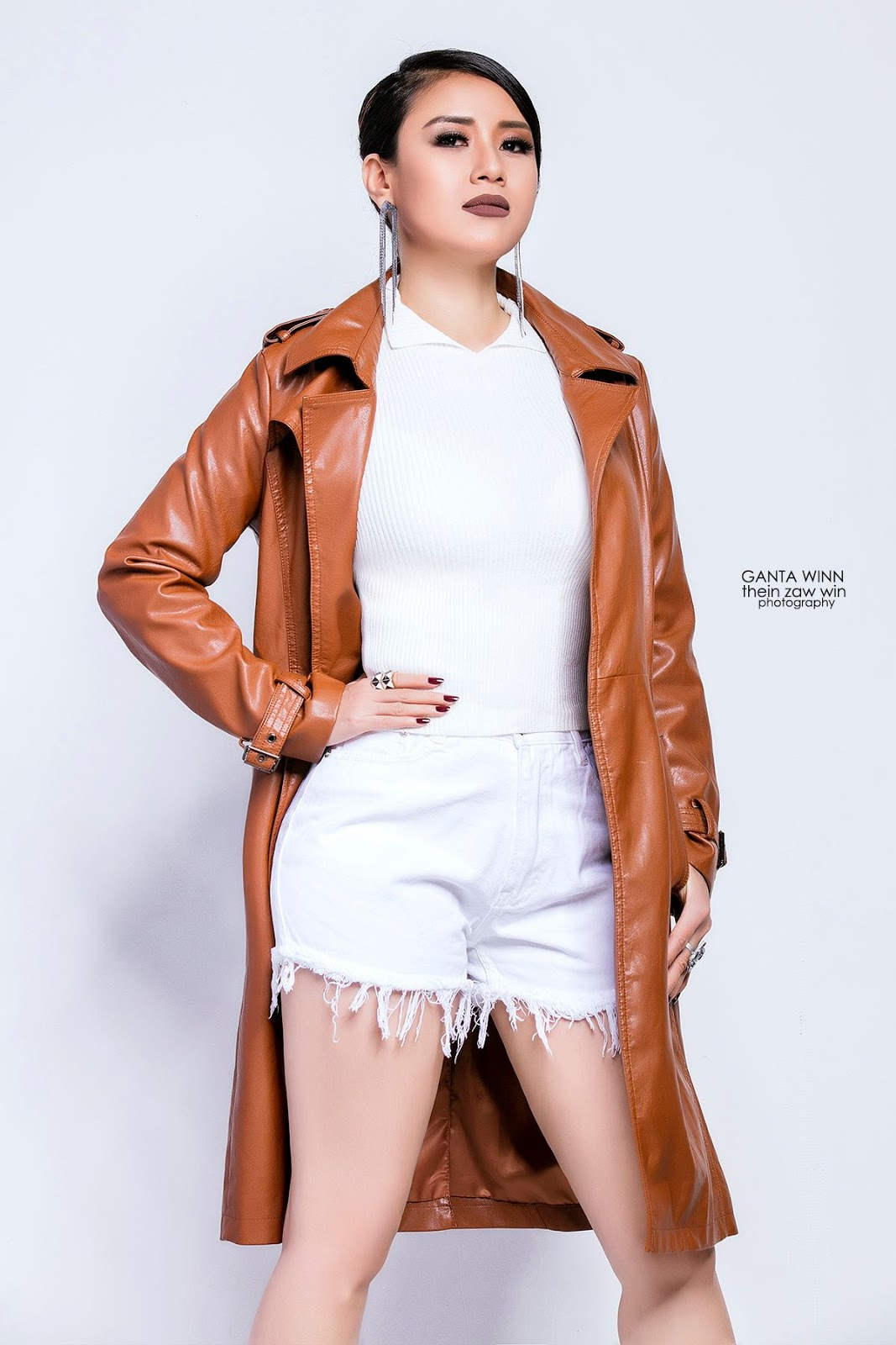 Myanmar Model Gandawin New Studio Photoshoot