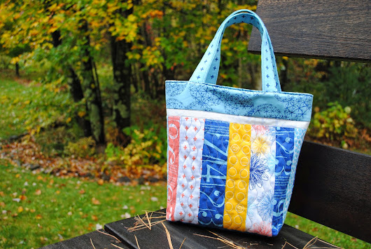 Quilting Tutorial to make a Library Tote from scraps!