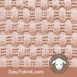Knit Purl 13: Basketweave | Easy to knit #knittingstitches #knittingpatterns