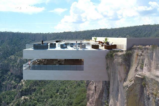Restaurante Cliffside oferece uma experiência gastronômica com vistas deslumbrantes sobre o vale abaixo