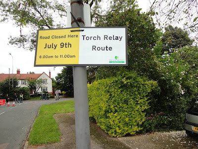 Torch Relay Route Sign