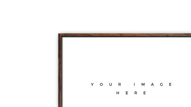 Detailed View of Wooden Frame Mockup for PowerPoint