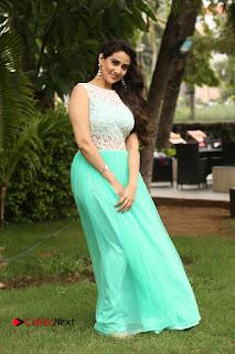 Actress Anchor Manjusha Stills in Long Dress at Srirastu Subhamastu Success Meet  0183.JPG