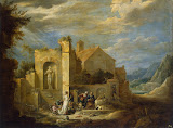 Temptation of St Antony by David Teniers II - Religious Paintings from Hermitage Museum
