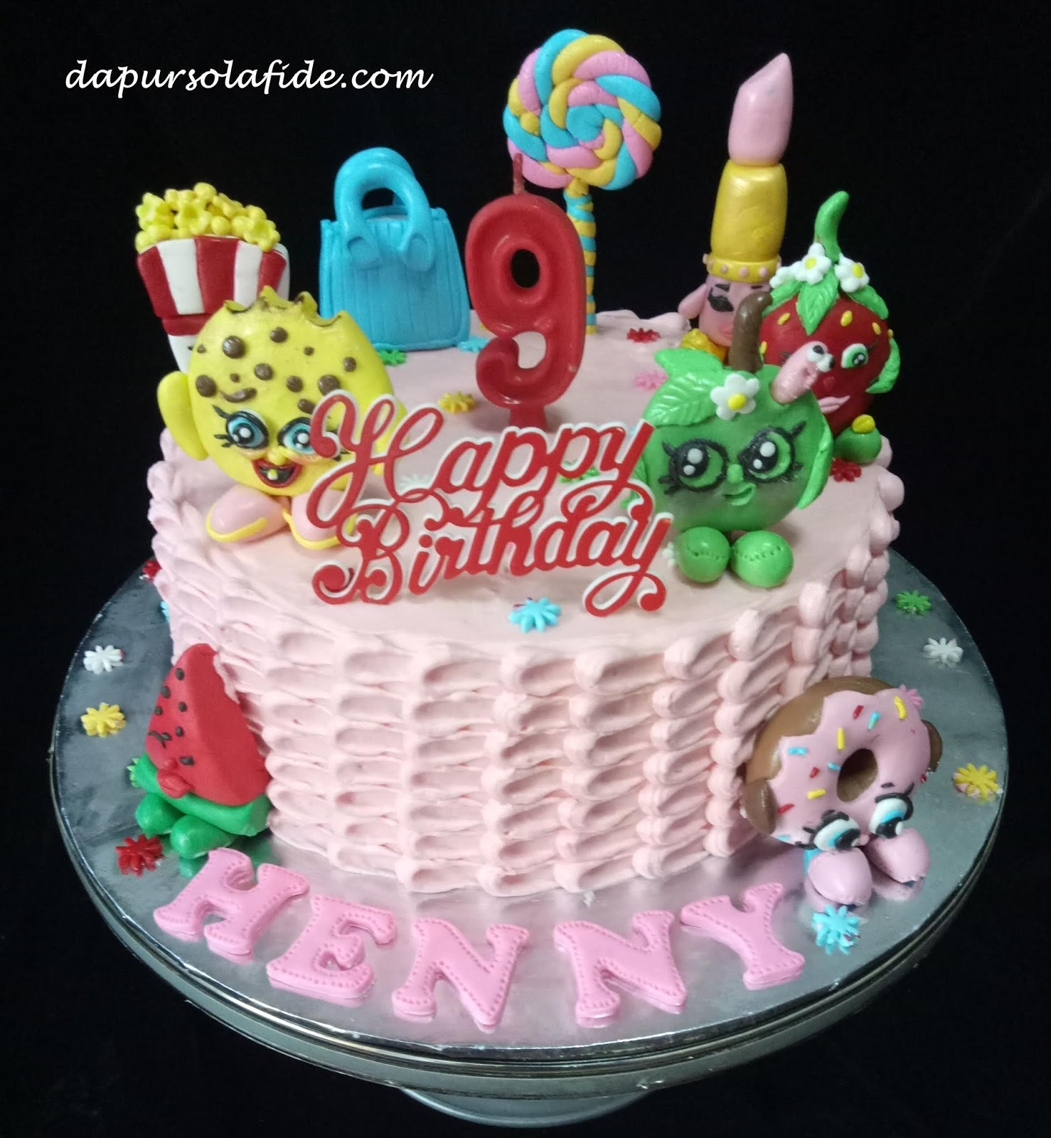 Dapur Solafide The Enchanting Cakes Shopkins Birthday Cake