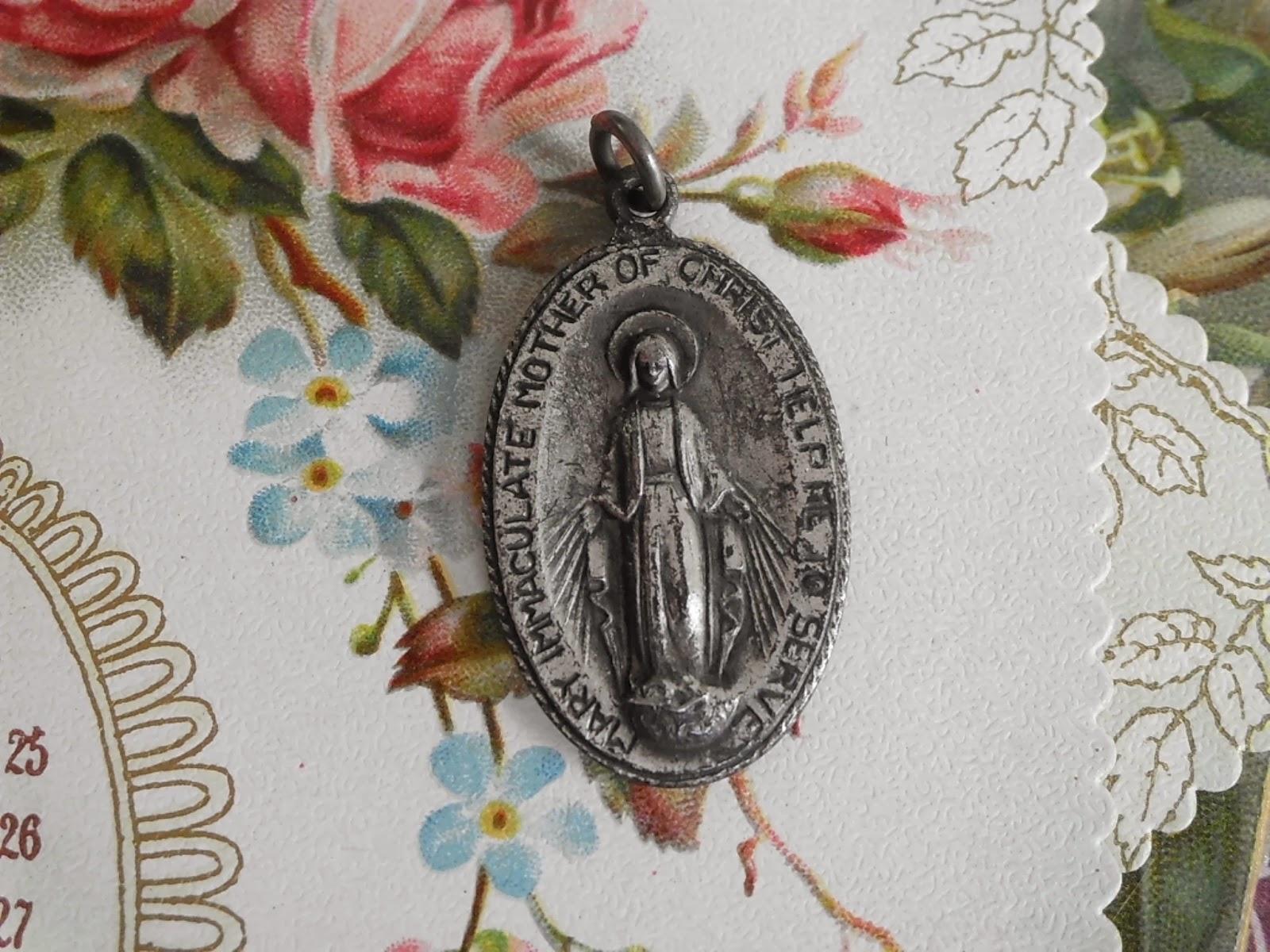 Vintage Religious Medals: RARE Vintage Catholic Service